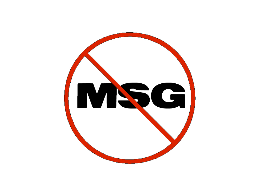 """【アメリカでは普通にみかける""""NO MSG!""""】"""